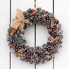 wianek świąteczny z cynamonem w sheepystuff na DaWanda.com