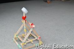 Highhill Homeschool: Roman Unit Study - The Punic Wars - Make a Catapult