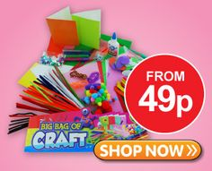 Kids craft stuff from just 49p at The Works. Get huge craft bundles and kits at great prices.