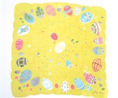 Vintage Handkerchief Easter Eggs Sally Victor at NeatoKeen