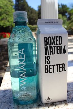 Is boxed water a thing ? I even heard of BAGED water! Agua Voss, Boxed Water Is Better, Yummy Drinks, Yummy Food, Smoothies, Jugo Natural, Box Water, Water 3, Tumblr Food