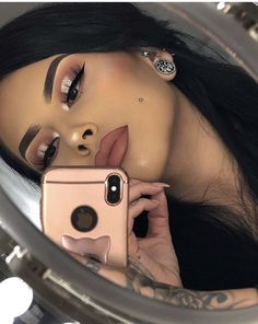Gorgeous Makeup: Tips and Tricks With Eye Makeup and Eyeshadow – Makeup Design Ideas Glam Makeup, Baddie Makeup, Cute Makeup, Gorgeous Makeup, Pretty Makeup, Skin Makeup, Makeup Inspo, Makeup Tips, Elegant Makeup