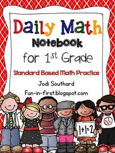 Daily Math Notebook!! First Grade Math, Grade 1, Second Grade, Math Notebooks, Interactive Notebooks, Teaching Math, Teaching Resources, Teaching Ideas, Classroom Solutions
