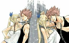 Natsu Dragneel x Lucy Heartfilia - NaLu from Fairy Tail - official art - by Hiro Mashima hehehe yay! Natsu Fairy Tail, Fairy Tail Lucy, Fairy Tail Ships, Art Fairy Tail, Fairy Tail Amour, Image Fairy Tail, Fairy Tail Quotes, Fairy Tail Comics, Fairy Tail Guild