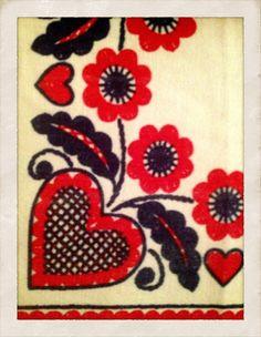 Swedish hearts and flowers