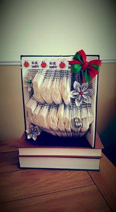 Book folding pattern for Best Teacher +Free tutorial by BookFoldingForever on Etsy