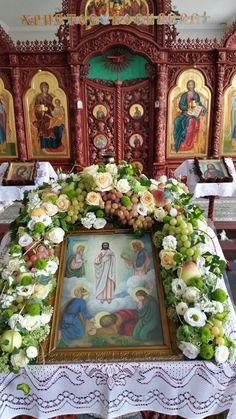 Altar Flowers, Church Flowers, Church Icon, Orthodox Easter, Orthodox Icons, Holy Spirit, Christianity, Flower Arrangements, Spirituality