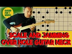 Very practical way to play an E major scale over the whole neck. In addition a jam on the scale, so you have an impression. See this LESSON, where I show a w. E Major, Major Scale, E Words, Cool Words, Guitar Neck, Cool Guitar, Fun, Fin Fun