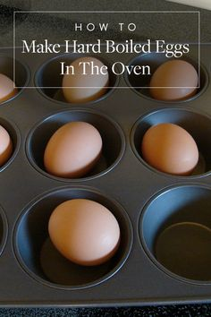 How to Make Hard-Boiled Eggs in the Oven Without Boiling Them via @PureWow