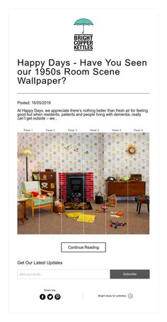 Happy Days - Have You Seen our 1950s Room Scene Wallpaper?
