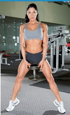 Weight squats... love doing these... I did 4 reps of 25 today and love feeling the muscle memory burn.