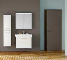 Nová koupelna do 5 pracovních dnů - expresní set Q MAX v bílém lesku. Bathroom Lighting, Vanity, Mirror, Furniture, Home Decor, Bathroom Light Fittings, Dressing Tables, Bathroom Vanity Lighting, Powder Room