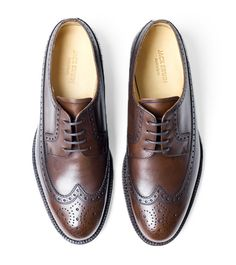 Jack Erwin - Hubert Long Wing Blucher - Chocolate Full Grain