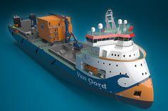 El buque de diseño avanzado X-Bow de Ulstein cuentan. Imagen cortesía de Ulstein Grupo. - Imagen - Tecnología Barco
