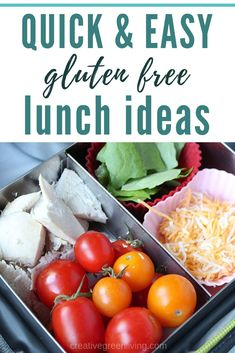 Two weeks worth of healthy make ahead school lunch ideas for kids, for teens, and for adults! These easy no sandwich bento box recipes are perfect for picky eaters. All of them are gluten free but they're really perfect for anyone! Healthy School Lunches, Healthy Snacks, Healthy Eating, Quick Easy Healthy Meals, Easy Meals, Easy Dinner Recipes, Appetizer Recipes, Delicious Recipes, Appetizer Ideas