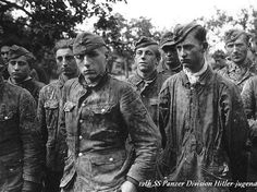 boys from the 12th SS Division Hitler-jugend in the defence of Caen,France 1944