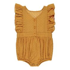 Marie Ruffled Dot Romper-product