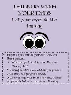 Free Social Thinking Worksheets | BEING A DETECTIVE-SOCIAL SKILLS, THINKING WITH YOUR EYES, PRAGMATIC. Repinned by SOS Inc. Resources pinterest.com/sostherapy/.