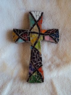 Mosaic MIxed Cross. $20.00, via Etsy. - I love giving and receiving the gift of a beautiful cross.  Hers are stunning!