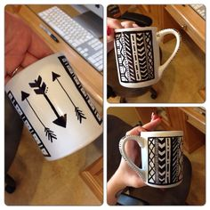 Stylish Painted Mugs