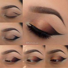 Gradient Glam Cat Eye Pictorial #BeautyRoutineCalendar Beautiful Eye Makeup, Gorgeous Eyes, Cute Makeup, Amazing Makeup, Make Up Tutorials, Eyeliner, Makeup Eyeshadow, Makeup Geek, Makeup Kit