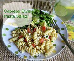 Caprese Style Pasta Salad made without mayo, great for picnic, potluck | www.wineladycooks.com  #coldpasta #salad #nomayo  @wineladyjo