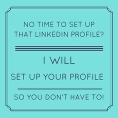 Set up your LinkedIn profile for $5