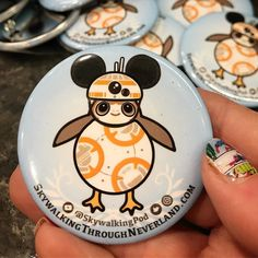 Theyre here!! #bb8 #porg buttons from @purebuttons will come with us for every #meetup in the near future. Also working with @bekahsbuttonsandart to make them available for purchase if you are not in our area. They are adorable!!