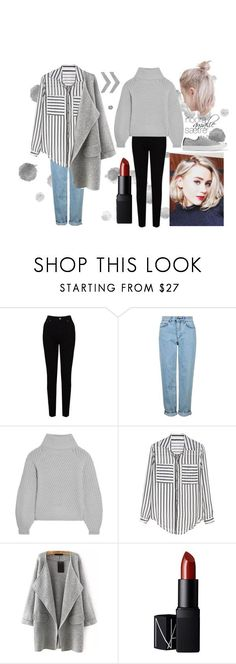 """Noora Amalie Sætre"" by driftingwonder on Polyvore featuring EAST, Topshop, Iris & Ink, NARS Cosmetics, Converse, inspiration, character, noora and skam"