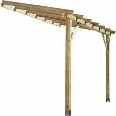prgola de madera adosada x m para final piscina