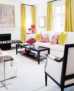 Yellow, White, Black and pink @indulgy.com