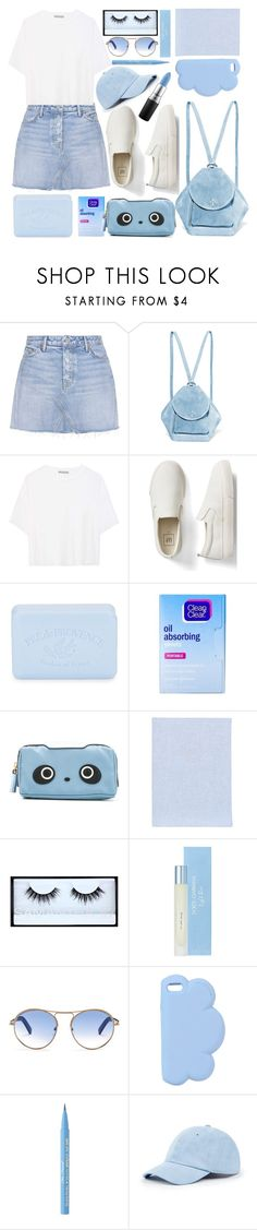 """BLUE."" by valemx ❤ liked on Polyvore featuring GRLFRND, MANU Atelier, Vince, Gap, Pré de Provence, Clean & Clear, Anya Hindmarch, Fine & Candy, Huda Beauty and Dolce&Gabbana"