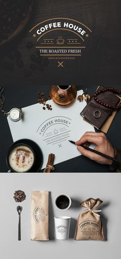 coffee house logo branding
