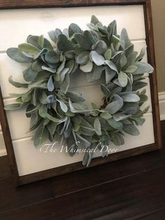 This wreath is full of green faux lambs ear greenery. The lambs ear branches are arranged to create a full and gorgeous silk wreath. Available in 5 size options. - April 13 2019 at Farmhouse Remodel, Farmhouse Interior, Farmhouse Style Kitchen, Modern Farmhouse Decor, Rustic Farmhouse, Rustic Decor, Farmhouse Front, Industrial Farmhouse, Rustic Style