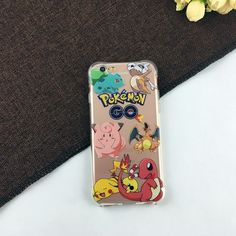 Cartoon Pocket Monsters Pokemon Pikachu Poke Ball Case Ultrathin Anti Knock TPU Cover For iPhone SE 5 5S & 6 6S & 6 6S Plus
