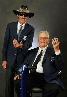 Richard and Maurice Petty   (photo: NASCAR Images)