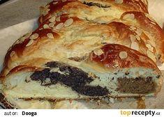 Trojbarevný cop 2 recept - TopRecepty.cz Disney Secrets, G 1, Bagel, Quiche, Bread, Breakfast, Ethnic Recipes, Sweet, Random Facts