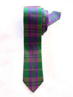 Green & Pink Check Tie