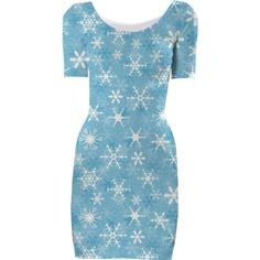 Snowflakes Short Sleeved Bodycon Dress - Available Here: http://printallover.me/collections/sondersky/products/0000000p-snowflakes-3