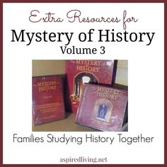 We are currently using Mystery of History Vol. 3 as we have completed the other 2 volumes. We use MOH Vol. 3 in what may seem to be a rather unusual way.