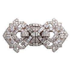 CARTIER Art Deco Diamond Clips 1930