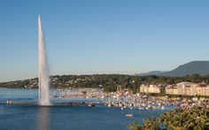 Geneva: Jet d'Eau Water jet pumps thousands of gallons of water into the air every minute