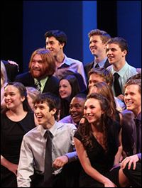 """""""Broadway or Bust"""" students in rehearsal"""