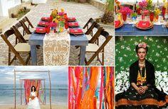 Kolorowe nakrycie stołu