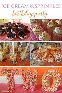 Ice Cream and Sprinkles Birthday Party