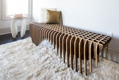 Bench from the Bones Studio Quarry Furniture Collection. Furniture Manufacturers, Unique Furniture, Furniture Collection, Animal Print Rug, Bones, Studio, Home Decor, Decoration Home, Room Decor