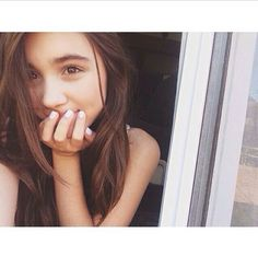 (FC: Rowan Blanchard) Hello. I'm Charlie Milne. Daughter of Christopher Robin. Pooh is my very best friend. (I love Charlie. She's so cute.)