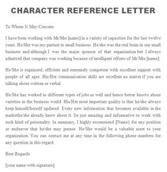 Personal Reference Sample Reference Letter 01  Research Writing Citations Etc  Pinterest .