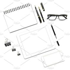 Office desk Minimal flat lay JPG by LiliGraphie on @creativemarket