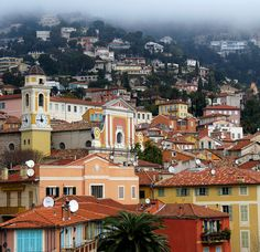 The colorful village of Villefranche sur Mer